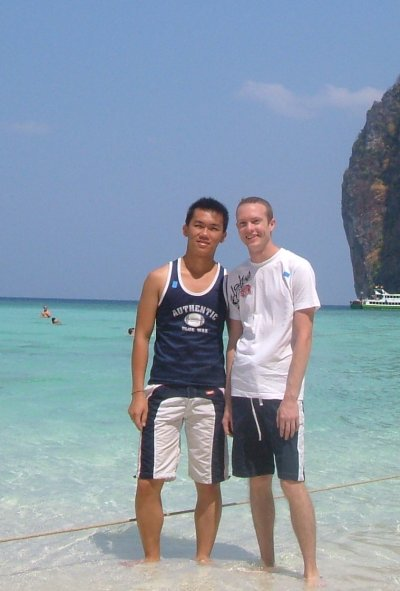 Justin Whitford and Noom on Phi Phi Lay